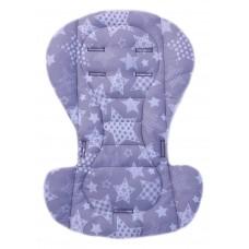 Вкладыш на стульчик для кормления и коляску звездочки