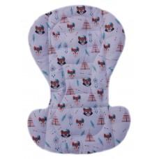 Вкладыш на стульчик для кормления и коляску еноты