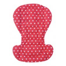 Вкладыш на стульчик для кормления и коляску сердечки